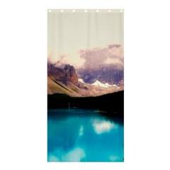 Austria Mountains Lake Water Shower Curtain 36  X 72  (stall)