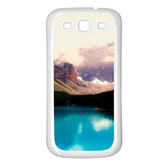 Austria Mountains Lake Water Samsung Galaxy S3 Back Case (white)