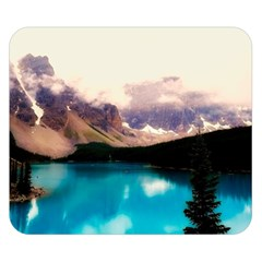Austria Mountains Lake Water Double Sided Flano Blanket (small)
