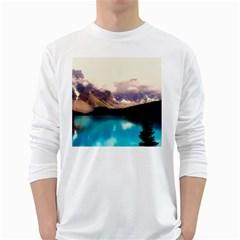 Austria Mountains Lake Water White Long Sleeve T Shirts