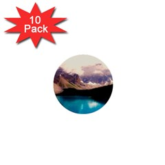 Austria Mountains Lake Water 1  Mini Buttons (10 Pack)