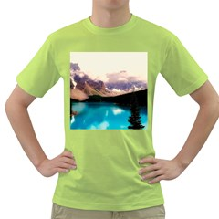 Austria Mountains Lake Water Green T Shirt