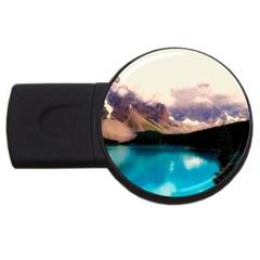 Austria Mountains Lake Water Usb Flash Drive Round (2 Gb)