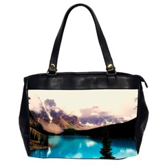 Austria Mountains Lake Water Office Handbags (2 Sides)