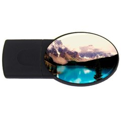 Austria Mountains Lake Water Usb Flash Drive Oval (4 Gb)