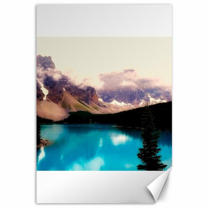 Austria Mountains Lake Water Canvas 12  x 18