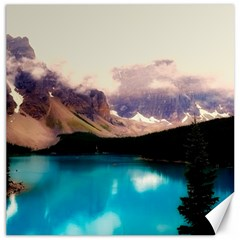 Austria Mountains Lake Water Canvas 16  X 16