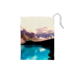 Austria Mountains Lake Water Drawstring Pouches (small)