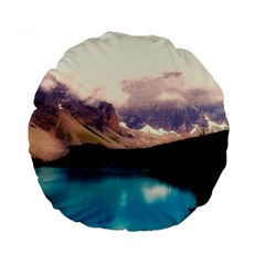 Austria Mountains Lake Water Standard 15  Premium Round Cushions