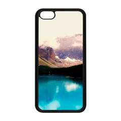 Austria Mountains Lake Water Apple Iphone 5c Seamless Case (black)
