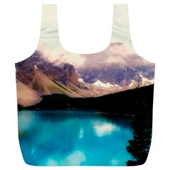 Austria Mountains Lake Water Full Print Recycle Bags (l)