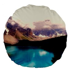 Austria Mountains Lake Water Large 18  Premium Flano Round Cushions by BangZart