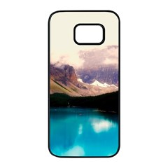 Austria Mountains Lake Water Samsung Galaxy S7 Edge Black Seamless Case