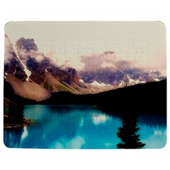 Austria Mountains Lake Water Jigsaw Puzzle Photo Stand (rectangular)