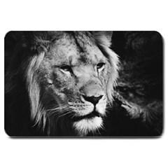 Africa Lion Male Closeup Macro Large Doormat