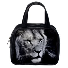 Africa Lion Male Closeup Macro Classic Handbags (one Side)
