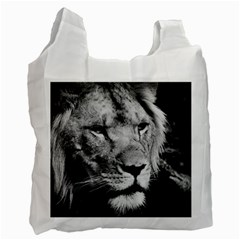 Africa Lion Male Closeup Macro Recycle Bag (two Side)