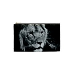 Africa Lion Male Closeup Macro Cosmetic Bag (small)