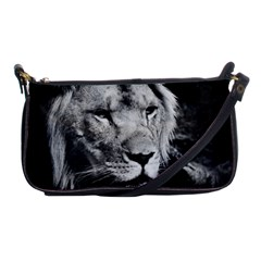 Africa Lion Male Closeup Macro Shoulder Clutch Bags by BangZart