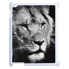 Africa Lion Male Closeup Macro Apple Ipad 2 Case (white)