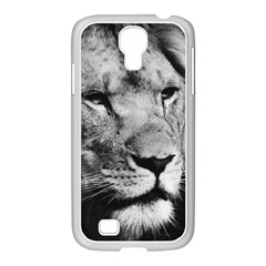 Africa Lion Male Closeup Macro Samsung Galaxy S4 I9500/ I9505 Case (white) by BangZart