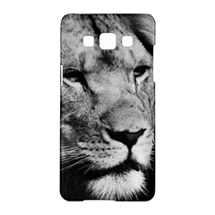Africa Lion Male Closeup Macro Samsung Galaxy A5 Hardshell Case  by BangZart