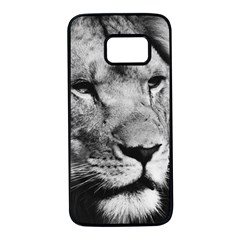 Africa Lion Male Closeup Macro Samsung Galaxy S7 Black Seamless Case