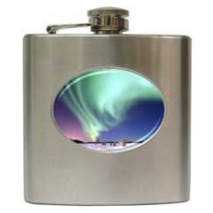 Aurora Borealis Alaska Space Hip Flask (6 Oz)