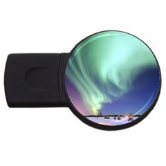 Aurora Borealis Alaska Space Usb Flash Drive Round (4 Gb)