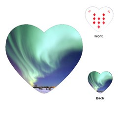 Aurora Borealis Alaska Space Playing Cards (heart)  by BangZart