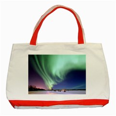 Aurora Borealis Alaska Space Classic Tote Bag (red)
