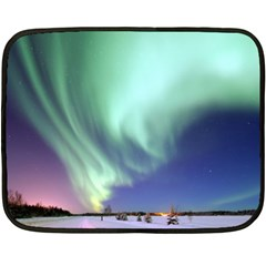 Aurora Borealis Alaska Space Double Sided Fleece Blanket (mini)