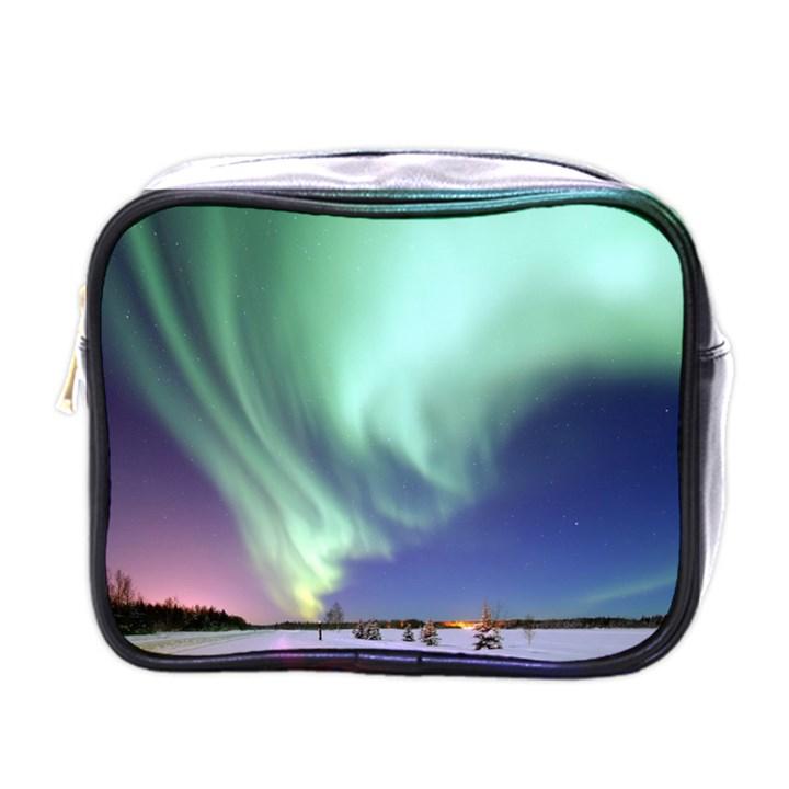 Aurora Borealis Alaska Space Mini Toiletries Bags
