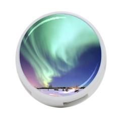 Aurora Borealis Alaska Space 4 Port Usb Hub (two Sides)  by BangZart