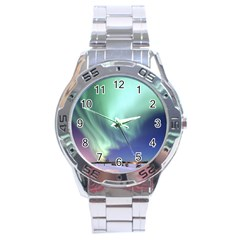 Aurora Borealis Alaska Space Stainless Steel Analogue Watch by BangZart