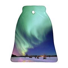 Aurora Borealis Alaska Space Bell Ornament (two Sides)