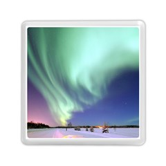 Aurora Borealis Alaska Space Memory Card Reader (square)