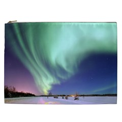 Aurora Borealis Alaska Space Cosmetic Bag (xxl)