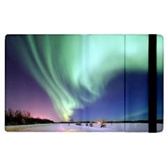 Aurora Borealis Alaska Space Apple Ipad 2 Flip Case