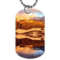 France Snow Winter Sunrise Fog Dog Tag (two Sides)