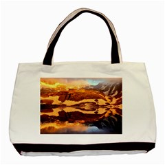 France Snow Winter Sunrise Fog Basic Tote Bag by BangZart