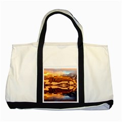 France Snow Winter Sunrise Fog Two Tone Tote Bag by BangZart