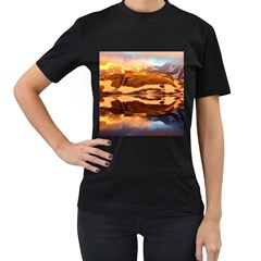 France Snow Winter Sunrise Fog Women s T Shirt (black)