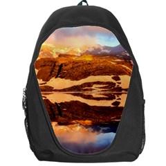 France Snow Winter Sunrise Fog Backpack Bag