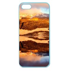 France Snow Winter Sunrise Fog Apple Seamless Iphone 5 Case (color) by BangZart