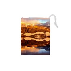 France Snow Winter Sunrise Fog Drawstring Pouches (xs)
