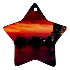 New York City Urban Skyline Harbor Ornament (star)