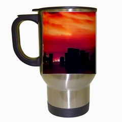 New York City Urban Skyline Harbor Travel Mugs (white)