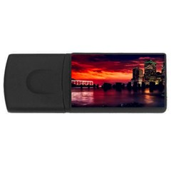 New York City Urban Skyline Harbor Rectangular Usb Flash Drive