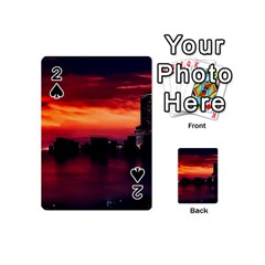 New York City Urban Skyline Harbor Playing Cards 54 (mini)